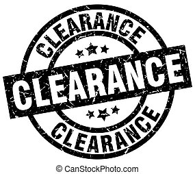 clearance round grunge black stamp