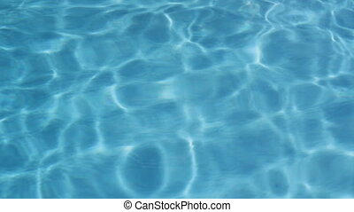 Pool water 2 of 3 - Sunny water in a clean, outdoor swimming...