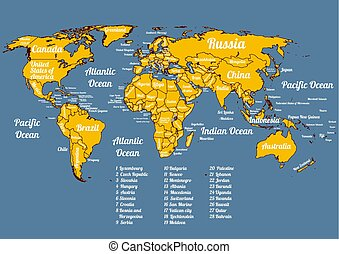 Vector whole world political map - Vector world political...