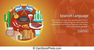 Argentina banner horizontal, cartoon style - Argentina...