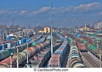 railway depot - A series: railway depot, a sight from...