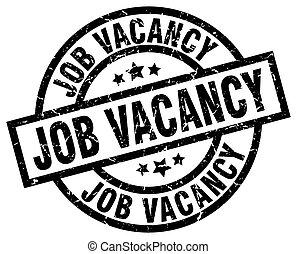 job vacancy round grunge black stamp