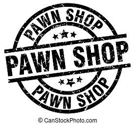 pawn shop round grunge black stamp