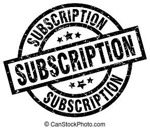 subscription round grunge black stamp