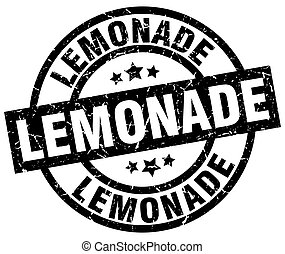lemonade round grunge black stamp