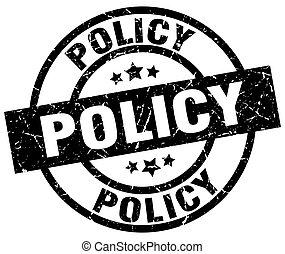 policy round grunge black stamp