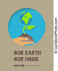 Happy Earth Day world nature quote illustration