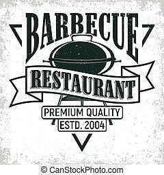 vintage logo design - Vintage barbecue restaurant logo...