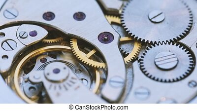 Old Watch Mechanism - Old Mechanical Watches Mechanism Close...