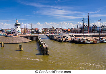 Harlingen harbor on the wadden sea - Harbor of harlingen....