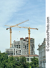 The building of new house - In the historical part of the...