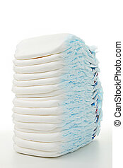 stack of diaper - isolated stack of diaper