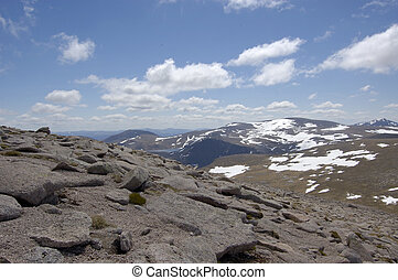 View south from Cairngorm - View south from the summit of...