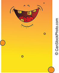 bad taste - big smiley yellows full page monster with bad...
