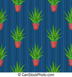Seamless pattern with succulent. Wallpaper illustration.