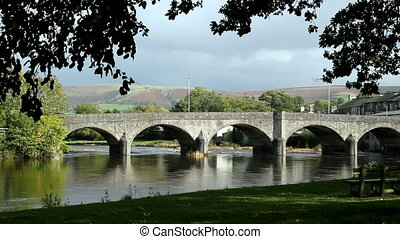 Bridge over river Wye in Builth.