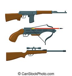 Rifle, submachine gun, crossbow - Rifle, submachine gun and...