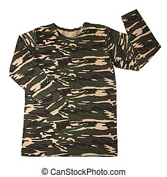 Camouflage shirt isolated on white background