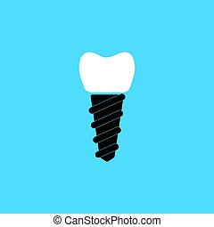 A dental implant - The symbol of tooth restoration. A dental...