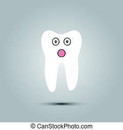 smiley, dente