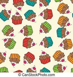 sweet seamless cupcakes pattern