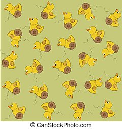 vector seamless pattern with duck toy - joyful vector...