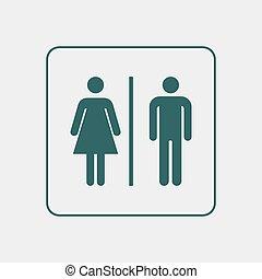 Toilet WC door/wall plate.
