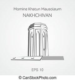 Momine Khatun mausoleum Nakhchivan. Azerbaijan.
