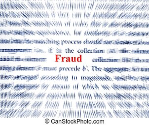 fraud - this is a image of paper cutting with added effect.