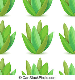 Agave - seamless pattern with desert plants. Nature floral...
