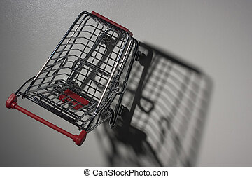 Empty shopping cart - Shade from empty shopping cart with...