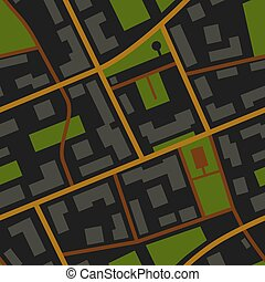 City Map night view pattern - City Map night view seamless...