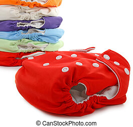 cloth diaper - isolated cloth diaper