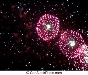 fireworks - the brightly fireworks in the dark with...
