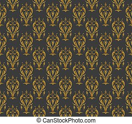 Vintage pattern on a dark background