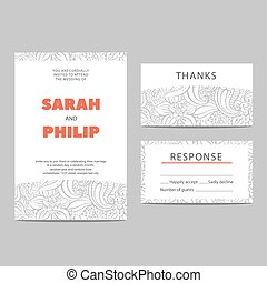 Invitation cards for the holiday - Invitation cards for a...