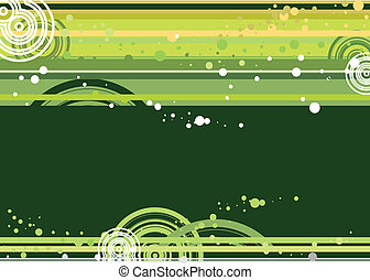 Green and Yellow doted  background