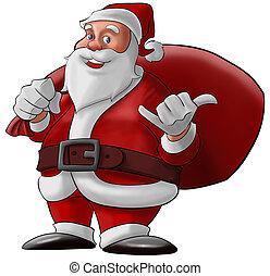 hang loose santa claus - santa claus doing a hang loose and...