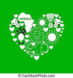 africa flat design - set in the style of a flat design on...