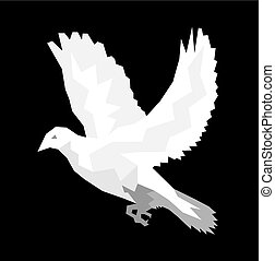 Holy spirit Dove, geometric art vector design