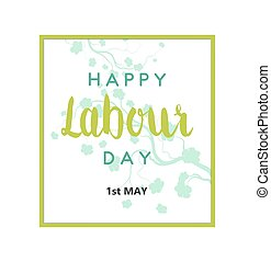Labour Day Card - Abstract Holiday Happy Labour Day Card