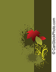Cover for brochure with autumn red