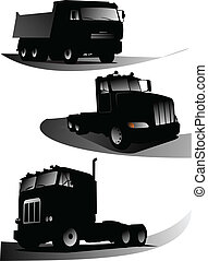 Vector illustration of trucks