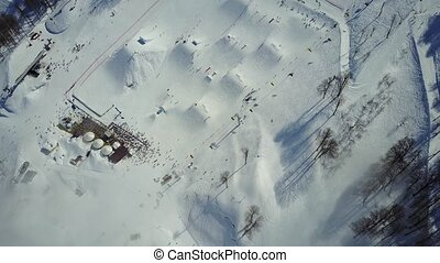 The skiing festival NewStarCamp in Sochi, Rosa Khutor....