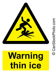 Black and Yellow Warning Sign isolated on a white background...