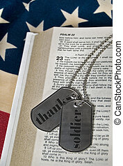 Solidier Tags - Military dog tags on Psalm 23.