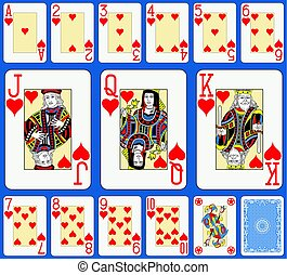 Blackjack Hearts Suite French Style.eps - Blackjack playing...
