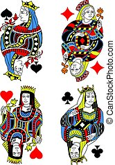 Four Queens French Inspiration Without Card Frame.eps
