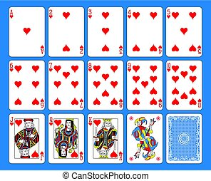 Hearts Suite French Style.eps - Playing cards hearts suite...