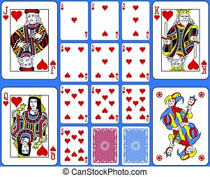 Hearts Suite Palying Cards French Style.eps - Playing cards...